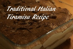 Traditional Italian Tiramisu Recipe
